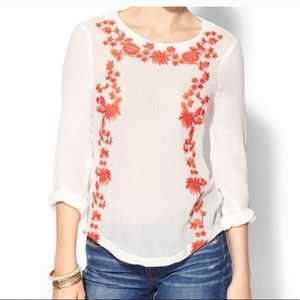 SABINE embriodered mexicali top